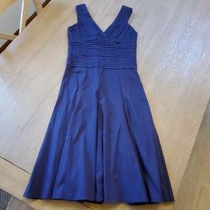 Navy Odille midi dress